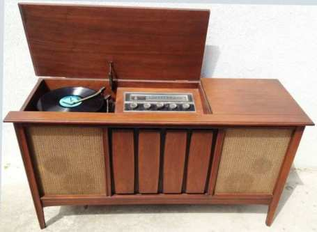 Perfect old record player cabinet For 1960s Mid Century Modern Stereo Console SYLVANIA Record